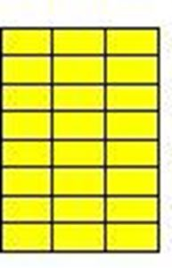 Picture of Labels  70  x 37,1 yellow 100/1