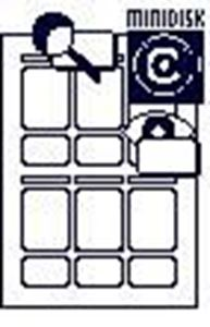 Picture of Labels  MD set 3 sizes white 10/1