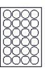 Picture of Labels d= 40mm white 25/1