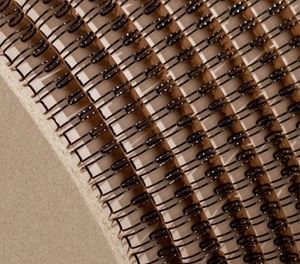 """Picture of Ring Wire comb spool (3:1) #12.7 (1/2"""") black 26.000 RENZ"""