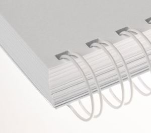 """Picture of Ring Wire comb (3:1) #12.7 (1/2"""") white A4 100/1 RENZ"""