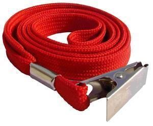 Picture of Lanyard with clip 10mmx90cm red 50/1 Lamin8er