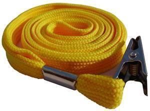 Picture of Lanyard with clip 10mmx90cm yellow 50/1 Lamin8er