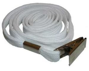 Picture of Lanyard with clip 10mmx90cm white 50/1 Lamin8er