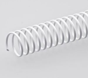 Picture of Plastic binding Coil 4:1 # 14 (A4) white 100/1 Lamin8er