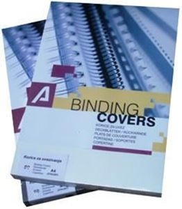 Picture of Binding covers A4 (0,25mm) PVC opaque BLACK 100/1 DUAL