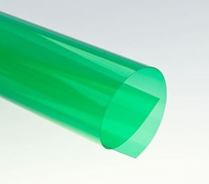 Picture of Binding covers A4 (0,20mm) transparent clear GREEN 0,20mm 100/1 RENZ