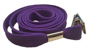 Picture of Lanyard with clip 10mmx90cm purple 50/1 Lamin8er